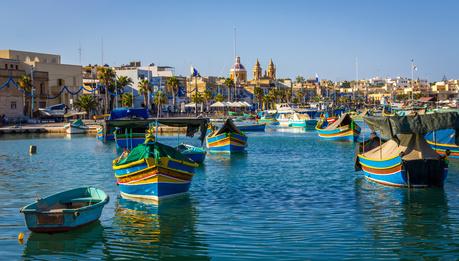 Sprachkurs mit Blick auf das Mittelmeer vor Malta
