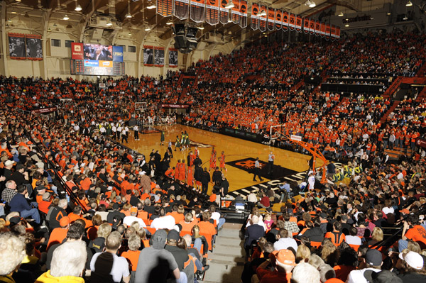 Basketballspiel der Oregon State University