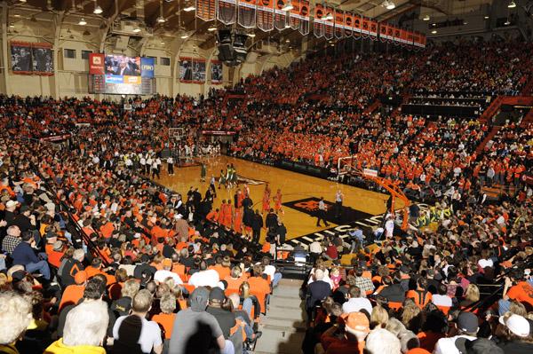 Basketballspiel der Oregon State University