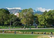 Ein Blick auf den Campus der Colorado State University