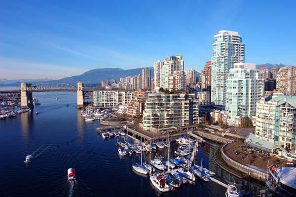 Blick auf die Skyline Vancouvers