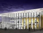 Gebäude der CSUN bei Nacht