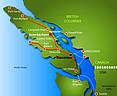 Landkarte von Vancouver Island