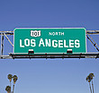 Autobahnschild Los Angeles Highway 101
