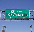 Autobahnschild Los Angeles Highway 101