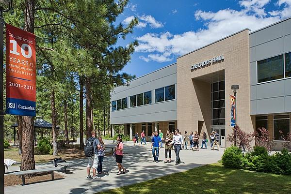 Die Caascades Hall auf dem Campus der Oregon State University in Corvallis