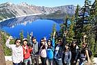 Austauschstudenten am Crater Lake