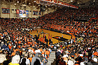 Ein Baskettballspiel an der Oregon State University