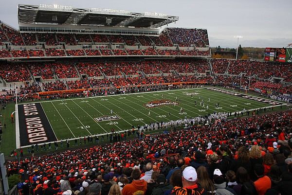 American Football Spiel der Oregon State University Beavers