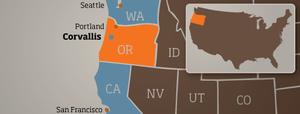Lage der Oregon State University