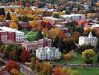 Der Campus der Oregon State University aus der Vogelperspektive