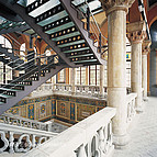 das antike Treppenhaus der Universitat Autónoma de Barcelona