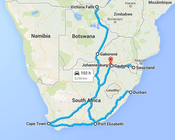 Reisen während des Auslandssemesters in Südafrika
