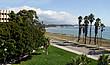 Der direkt am Pazifischen Ozean gelegene Campus der University of California, Santa Barbara