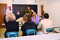 Studenten im Seminar am Berkely College New York