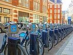 Mietstation für Fahrräder in London