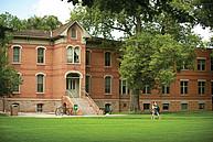 Historisches Gebäude auf dem Campus der Colorado State University (CSU)