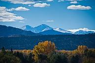 Blick auf die Foothill Mountains bei Fort Collins