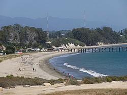 Blick auf den Strand der UC Santa Barbara
