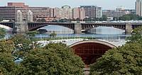Blick auf Boston vom Fisher College
