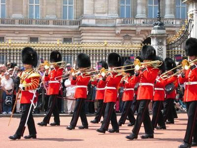 Englische Wachen in London