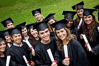 Gruppe von Hochschulabsolventen