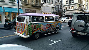 bemalter Bus in San Francisco