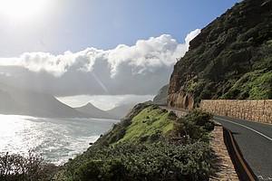 Klippe und Meer in Südafrika