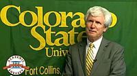 Jim Cooney von der Colorado State University beim Interview