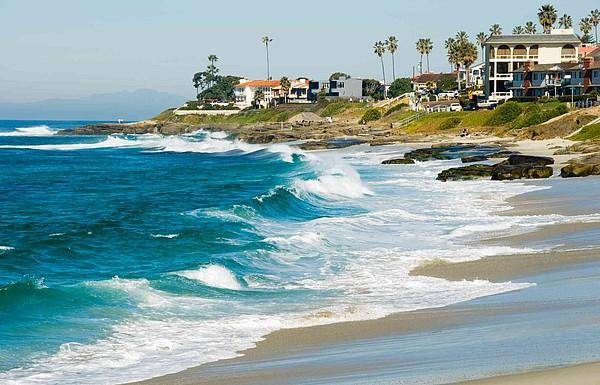 Brandung am Strand von San Diego