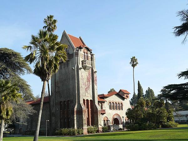 Historisches Gebäude an der San Jose State University