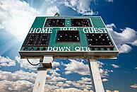 Typische Football-Anzeigetafel