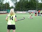 Hockey Spielerinnen beim Warmmachen