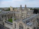 Blick auf historisches Universitätsgebäude in Oxford