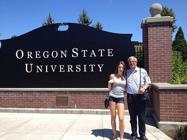 Eingangsschild der Oregon State University