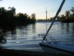 Boot am Ontariosee vor Toronto