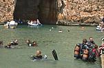Tauchschüler auf Gozo