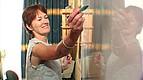 Sprachlehrerin am Whiteboard IH Gozo
