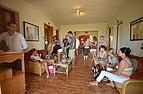 Sprachschüler in der Lobby von BELS Gozo