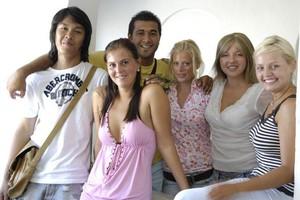 Gruppe Sprachreisender auf Malta