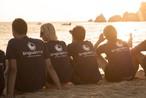 Sprachschüler am Strand von Sliema