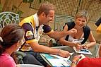 Englisch Sprachunterricht auf der Terrasse der Sprachschule International House Malta