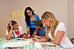Sprachschülerinnen beim Unterricht an der IH Malta