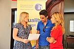 Schüler im Gebäude der Sprachschule International House Malta