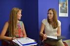 Sprachschülerinnen beim Unterricht, Sprachschule BELS Malta