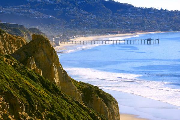 Küste am pazifischen Ozean in San Diego