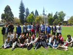 Sprachschüler in einem Park in Berkeley