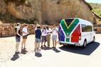 Bus mit Südafrika Fahne bemalt