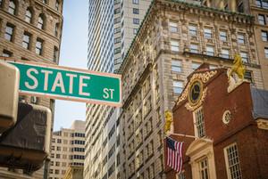 Straße in Downtown Boston