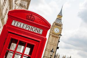 London Rote Telefonzelle vor Big Ben